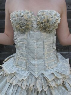 Dress Made of a Book by Jorimoo - Sortrature. Book art! As for putting on my board, My Style, ha! :)