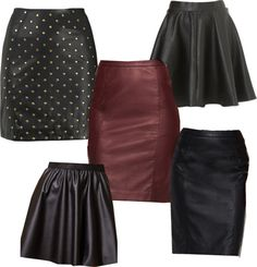"""""""Leather skirts"""" by fabriana22 on Polyvore"""