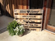 Vow renewal ideas - Pallet sign for Wedding/Vow Renewal Reception