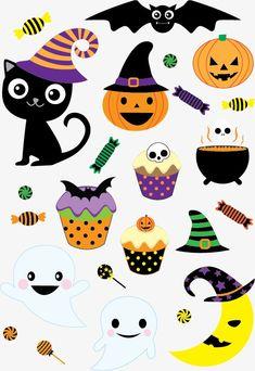 할로윈 호박 사탕 HALLOWEEN 검은 평촉 Halloween Cupcake Toppers, Cute Halloween Decorations, Easy Halloween Crafts, Halloween Design, Halloween Themes, Fall Halloween, Halloween Clipart, Halloween Drawings, Halloween Stickers