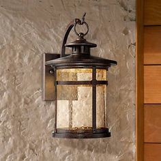 """$129 Callaway Rustic Bronze 11""""h  LED Outdoor Wall Light from Franklin Iron Works, backplate 4.5x5"""" - 12hx7wx9d"""