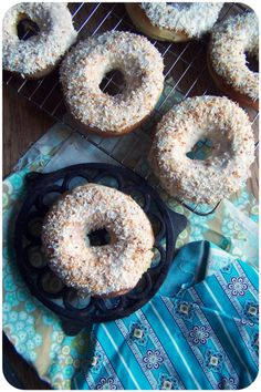 Coconut Frosted Doughnuts