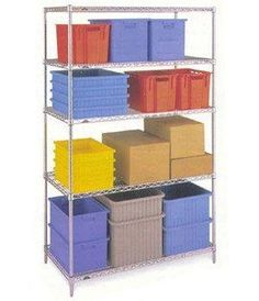 4 Shelf Chrome Shelving Unit - 91.5 x 61cm (36 x 24in) - Choice of heights.. from £65.69