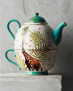 But this tea pot/cup combination though! We gotta have it one day! Yvonne Ellen Tea For One Set Tea For One, My Cup Of Tea, Teapots And Cups, Pot Sets, Chocolate Pots, Zaha Hadid, Tea Set, Tea Time, Tea Party