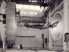 Nazi scientists testing the aerodynamics of a plane