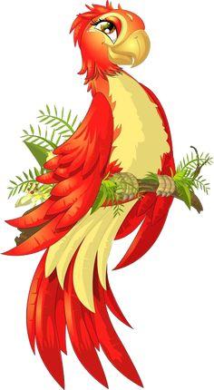 "Photo from album ""Птички мультяшные"" on Yandex. Parrot Cartoon, Cartoon Birds, Cartoon Art, Bird Drawings, Cute Drawings, Animal Drawings, Animal Cutouts, Butterfly Drawing, Cartoon Sketches"