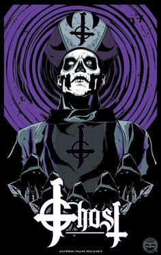 The Musician's Pledge – Music Poster Heavy Metal Bands, Arte Heavy Metal, Heavy Metal Music, Ghost Papa, Ghost Bc, Hard Rock, Bc Logo, Rock Band Posters, Band Ghost