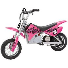 Razor MX350 Dirt Rocket Electric Motocross Bike, Available in Multiple Colors Only 5 In Stock Order Today! Product Description: Kick up dirt clouds with the Razor MX350 Dirt Bike. This scaled-down ele