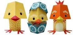 The yolk folk papieren knutsel pakket van Mibo laatste vogeltjes / kuikentjes nu in de sale bij www.roozje.nl Ook leuk als paas decoratie met Pasen