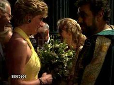 Princess Diana backstage at the Opera: On October 27, 1992, Prince Charles and Princess Diana meet Kiri Te Kanawa and Placido Domingo backstage at the Opera.