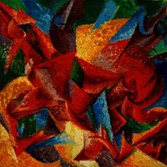 Dimensional Shapes of a Horse by Italian artist Umberto Boccioni Oil on canvas and painted in Milan it is now held at the Gabrielle Merzbacher Collection in Switzerland. Italian Painters, Italian Artist, Gino Severini, Umberto Boccioni, Italian Futurism, Dimensional Shapes, Surrealism Painting, Poster Prints, Art Prints