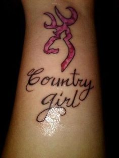 girl who loves camo tattoo | Love the browning symbol!! | Body Art Ideas