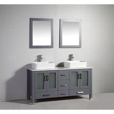 Web Photo Gallery Fine Fixtures Milan inch Vanity with Vitreous China Sink Top Double Sink VanityDouble Bathroom