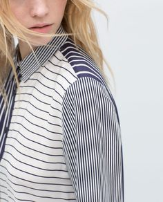 Image 5 of STRIPED COMBINATION BLOUSE from Zara