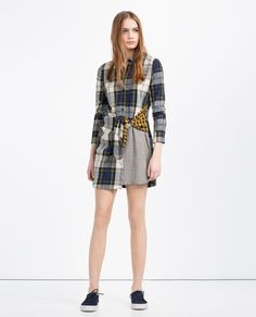 Image 1 of PATCHWORK ORGANIC COTTON SHIRT DRESS from Zara