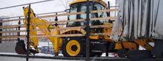 Baggerlader JCB 3 CX - Spezialtransporte nach Russland - EuroGUS e.K. Internationale Projektspedition