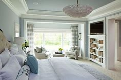 Pastels are for grown ups too.  Pastel bedroom scheme