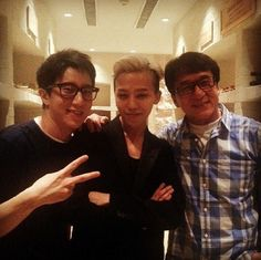"G-Dragon Backstage at Jackie Chan's Charity Concert (130930) ""With Jackie Chan and JC"""