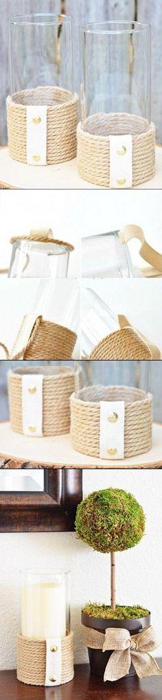 Pomysł na stojaki z liny