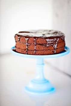 triple-layered double-chocolate fudge cake • sunday suppers