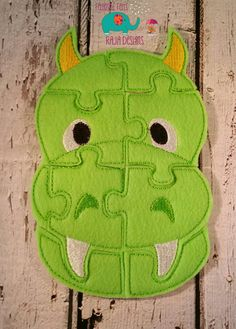 Felt dragon puzzle embroidered, embroidery, jigsaw puzzle, learning toy, activity, quiet game, kids toys, montessori, homeschool, busy book by DesignsByRAJA on Etsy