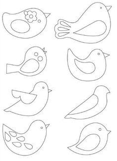 Embroidery Patterns Birds Felt Ornaments Ideas For 2020 Bird Patterns, Applique Patterns, Felt Crafts Patterns, Bird Applique, Felt Patterns Free, Applique Templates Free, Felt Ornaments Patterns, Felt Templates, Animal Patterns