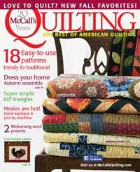 September/October 2013 issue of McCall's Quilting magazine, 18 easy-to-use trendy to traditional patterns