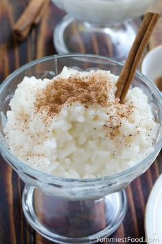 Cinnamon Rice Pudding - Served