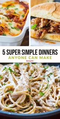 Whether you're cooking for one or cooking for a crowd, these insanely simple dinners remove stress from the process. Let's get started!