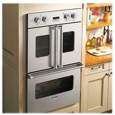 """Viking - Professional 7 Series 29.5"""" Built-In Double Electric Convection Wall Oven - Stainless steel Model: VDOF730SS"""