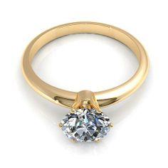 Aurella - Yellow gold - 0.55CT round cut diamond solitaire ring, £1,190.00 (http://www.aurella.co/yellow-gold-0-55ct-round-cut-diamond-solitaire-ring/)