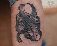 Film strip And Camera Tattoo