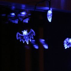 Nascco 20 Led Battery Operated String Lights Blue Bat Fairy Lights for Halloween Decoration @ niftywarehouse.com