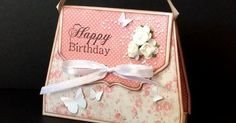 Time to get girly with this pretty handbag shaped card that also features a little pocket for money or a gift card. If you keep the embell...