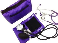 BP Blood Pressure CUFF Dual Head Stethoscope Kit Purple