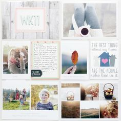 loving all the soft pastels in this project life layout