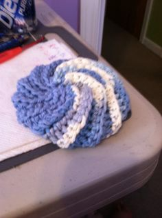 Scrap scrubbie. -  made using leftover yarn