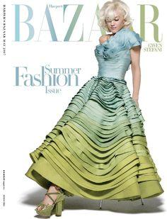 GWEN STEFANI / magazine HARPERS BAZAAR / photo PETER LINDBERGH / makeup KATHY JEUNG / hair DANILO / styling ANDREA LIEBERMAN