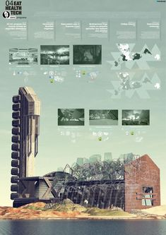 Architectural poster of Roosevelt Center / Pablo Humanes Architecture found more…
