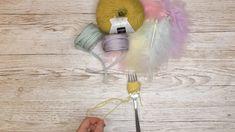Hvordan lage påskekyllinger med gaffel og garn - Kreative Idéer