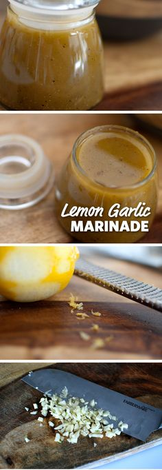 Lemon Garlic Marinade: A zesty marinade guaranteed to make anything you cook on the grill delicious. Best served with chicken but also great for beef or pork! Grab the grill and slather it on during your next cookout or tailgate. #FoodLion