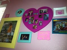 picture collage in progress in bella's room :)