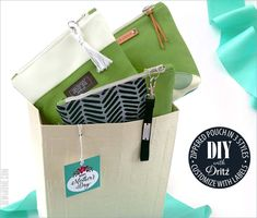 Custom Zipper Pouch in Three Styles: Dritz® Labels