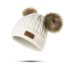 61e400018f7 Molixinyu Baby Boys Girls Pom Poms Hat Children Winter Hat For Girls  Knitted Beanies Thick Baby Hat Infant Toddler Warm Cap