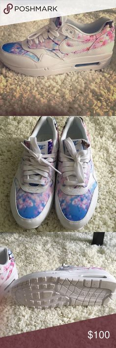 Nike Women's Air Max 1 In Cherry Blossom Never been worn these must have nikes are so cute! Accepting offers 💕✨ Nike Shoes Athletic Shoes