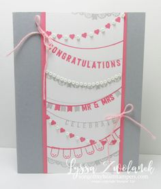 I love banners! and banner-themed cards, too. Rubber Stamping with Lyssa at Song of My Heart Stampers. www.bit.ly/shopwithLyssa