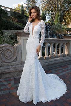 d9e26191e0a Makaela Elegant Lace Spanish Wedding dress Ivory
