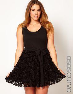 ASOS CURVE Black Party Dress