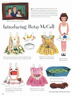 I adored paper dolls...I actually had these