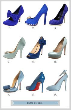 """Blue Wedding Shoes - they will be my """"something blue"""""""